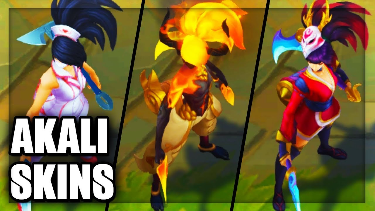 All Akali Skins 2018 Rework Final Update (League of Legends)