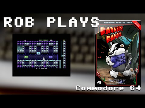"""Barnsley Badger"" on Commodore 64 - Rob Plays S4E31"