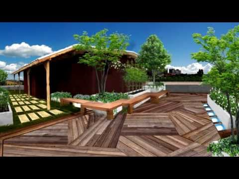 Roof garden youtube for Roof garden pictures
