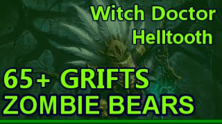 Witch Doctor Zombie Bears Helltooth 65+ Greater Rifts Patch 2.3 Diablo 3 RoS