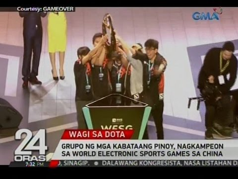 24 Oras: Grupo ng mga kabataang Pinoy, nagkampeon sa World Electronic Sports Games sa China