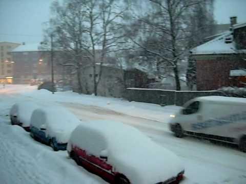 Snow in Oslo - YouTube