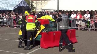 Congrès départemental des pompiers de Moselle, Dieuze, 10 septembre 2016, désincarcération