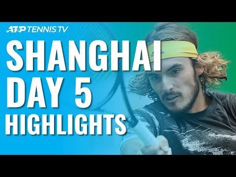 Federer \u0026 Djokovic Impress; Medvedev, Tsitsipas Battle Through | Shanghai 2019 Day 5 Highlights