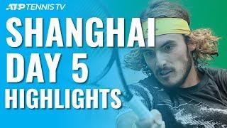 Federer & Djokovic Impress; Medvedev, Tsitsipas Battle Through | Shanghai 2019 Day 5 Highlights