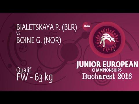 Qual. FW - 63 Kg: P. BIALETSKAYA (BLR) Df. G. BOINE (NOR) By FALL, 2-0