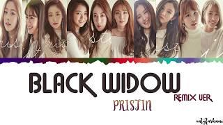 Скачать PRISTIN Black Widow REMIX VER Eng Rom Han Color Coded Lyrics YouTube