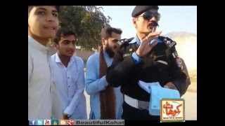 Kohat Traffic Police in Action Wheelers