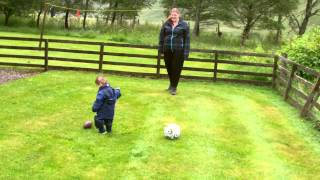 Andrew Playing Football (Glenshee Holiday)