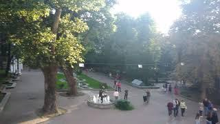 Смотреть видео . Москва. Фонтаны перед театром Моссовета. 4 августа 2019 г. онлайн