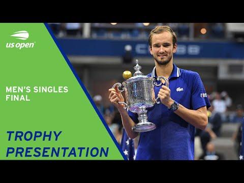 Men's Singles Final   Trophy Presentation   2021 US Open