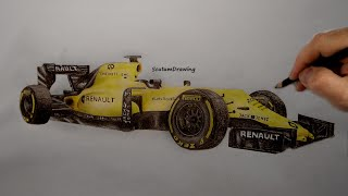 Renault R.S. 16 - Speed Drawing - How To Draw F1 Car