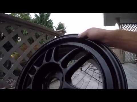 Enkei Rpf1 Black/satin Wheels And Custom Black Center Caps