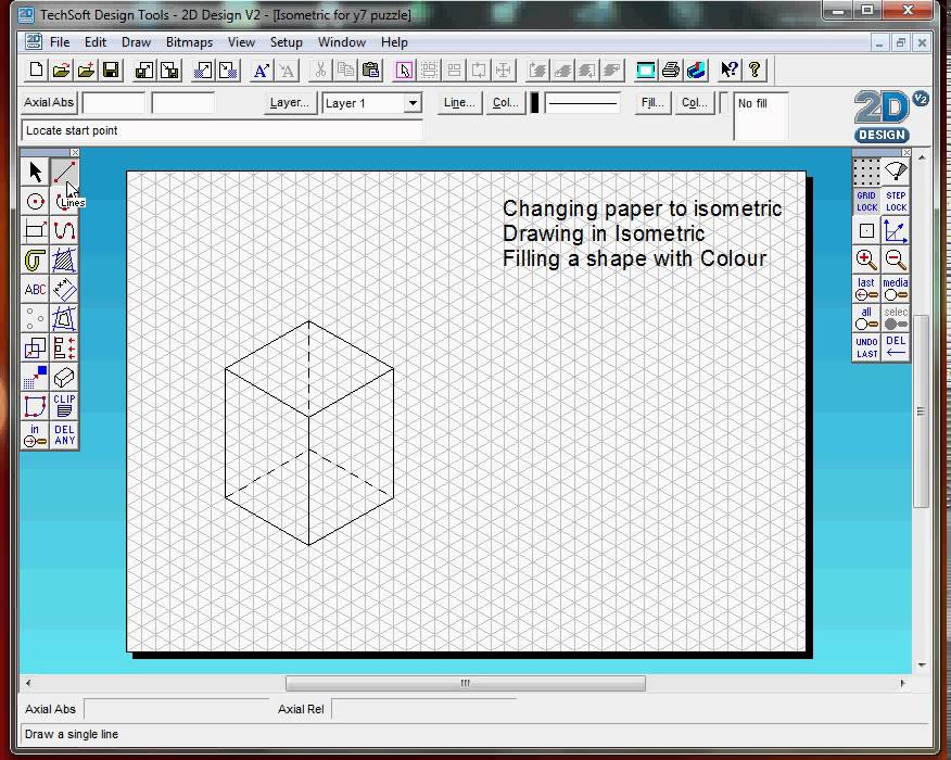 2D design Introduction basic tools, Isometric Drawing Practice - YouTube