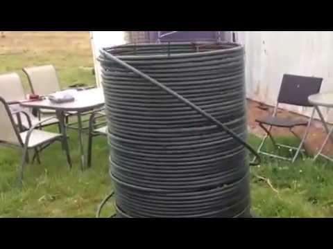 Jean Pain Method Compost Heater Youtube