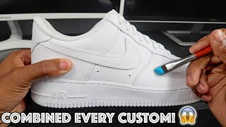 Custom AIR FORCE 1! - COMBINED Every CUSTOM Into One (100K Subscriber Special)