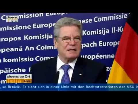 Federal President of Germany Joachim Gauck talks about the United States of Europe   German