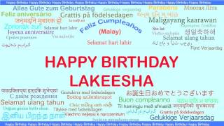 Lakeesha   Languages Idiomas - Happy Birthday