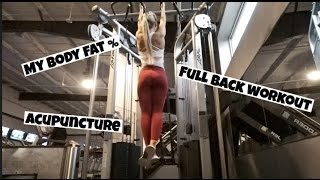 New Body Fat Analyzer, Full Back Workout &, My Experience with Acupuncture