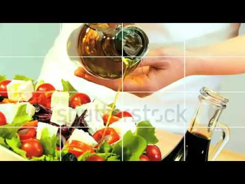 Montage collection of fresh tasty food choices for a modern healthy lifestyle