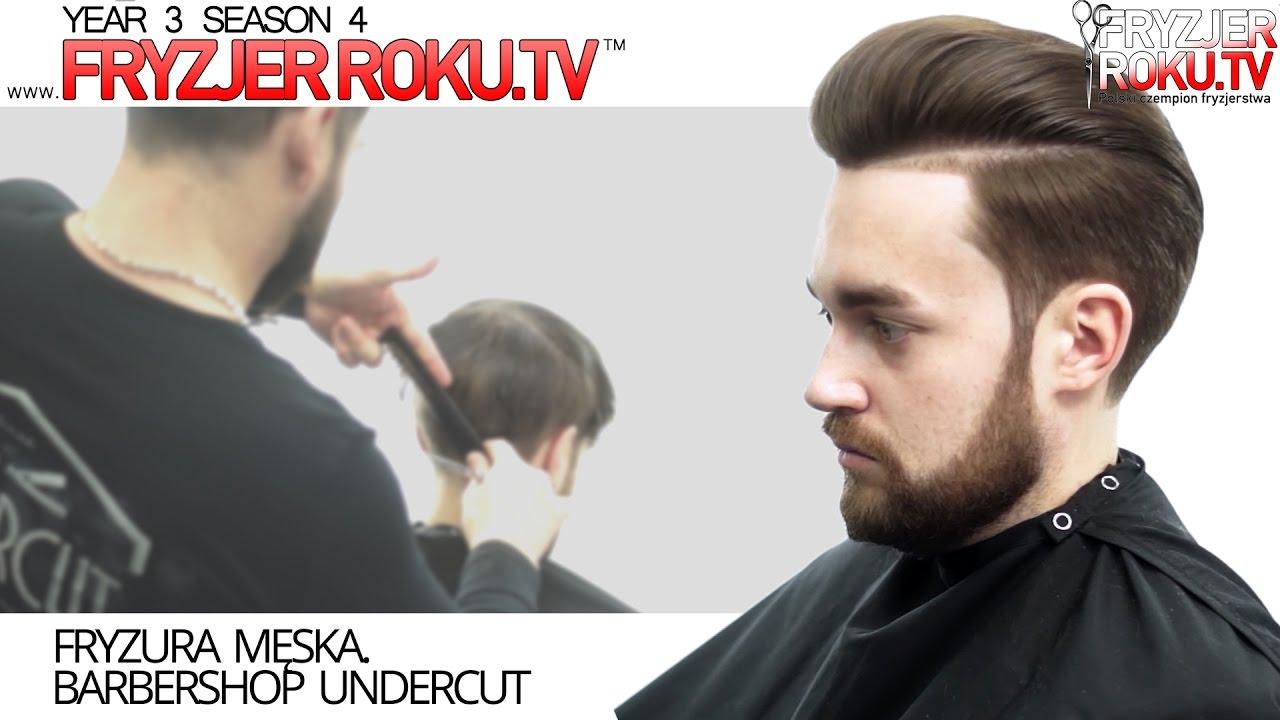 Fryzura Męska Barbershop Undercut Fryzjerrokutv