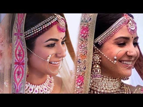 Anushka Sharma Wedding Makeup Hairstyle Full Video I Smithadbeauty