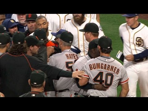 SF@SD: Benches clear after Myers, MadBum have words