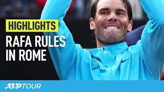 Rafael Nadal wint ATP-toernooi Rome van Novak Djokovic