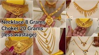 Latest Light weight Gold Choker /Necklace Designs from 10 gram onwards |Gold Orupidi 0.5 to 2 grams
