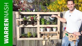 Building a Pallet Vertical Garden Easy DIY by Warren Nash