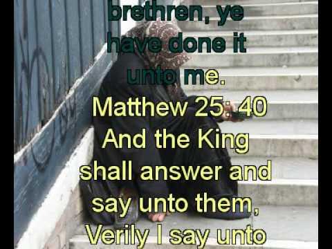 Matthew 25:40 - YouTube