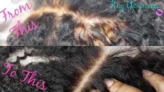 How To | Fix Over Bleached Knots on Your Lace Closure feat Bliss Wigs Closure 💋
