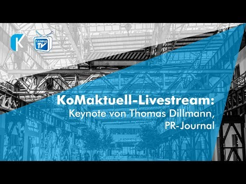 KoMaktuell: Keynote von Thomas Dillmann, PR-Journal
