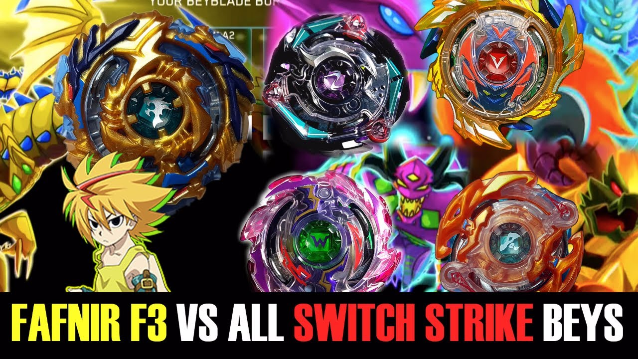 Drain Fafnir F3 Vs All Switch Strike Beys Beyblade Burst Evolution