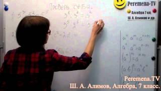 Алгебра, Ш  А  Алимов, 7 й класс Проверь себя №1