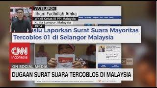 Dugaan Surat Suara Mayoritas Tercoblos 01 di Malaysia