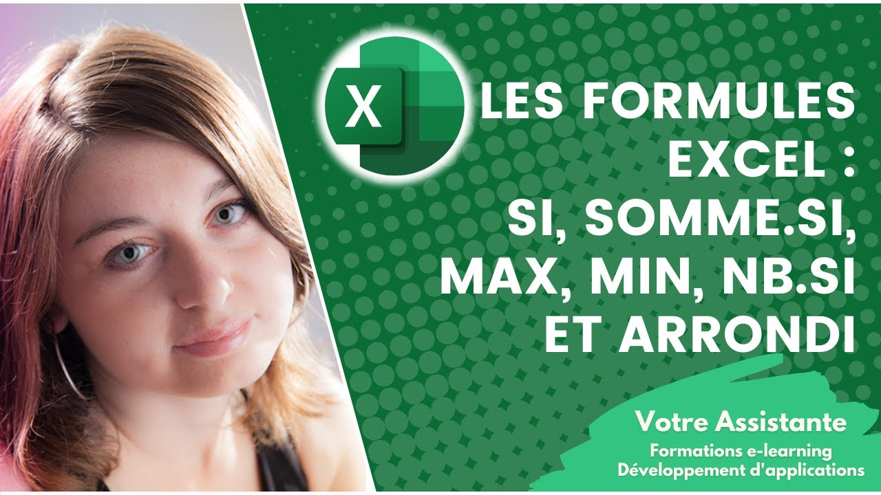 utiliser les formules excel si max min et arrondi 2 2 youtube. Black Bedroom Furniture Sets. Home Design Ideas