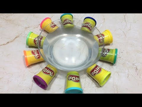 Mixing Play Doh into Clear Slime - Most Satisfying Slime Videos !! Tom Slime