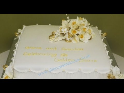Exceptional Golden Wedding Anniversary Cakes. Wedding Video Ideas