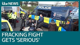 Fracking fight in Lancashire gets 'serious' | ITV News