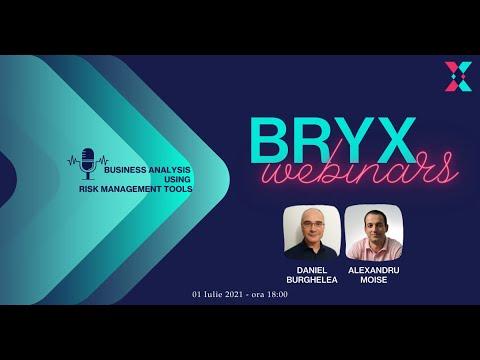 BRYX Webinars - Business Analysis using Risk Management Tools