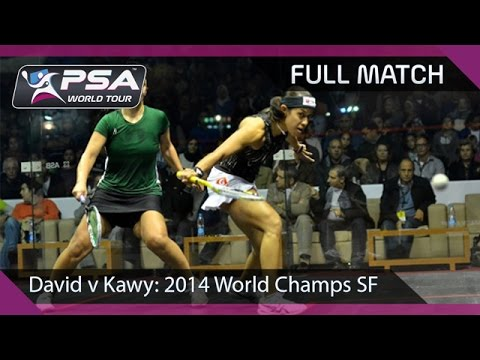 Squash: Full Match - 2014 Women's World Championship SF - David v Kawy