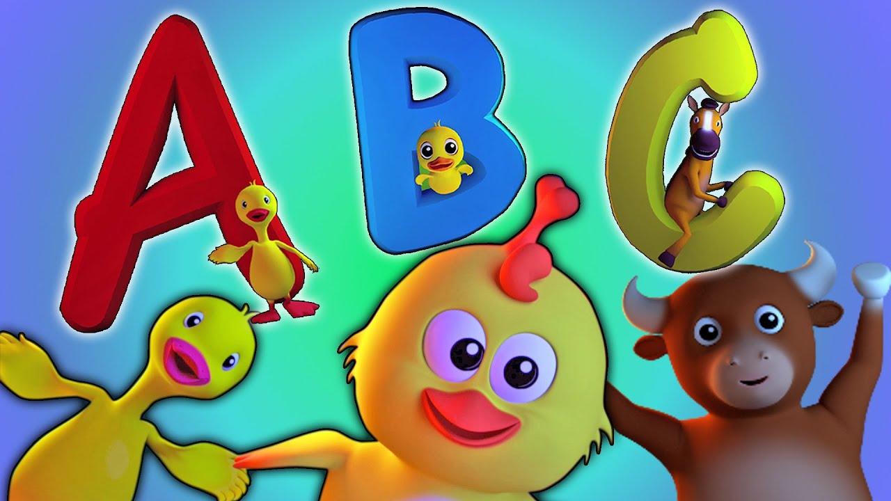 ABC Song   3D Hoạt hình cho trẻ em   Video giáo dục   Tìm hiểu bảng chữ cái