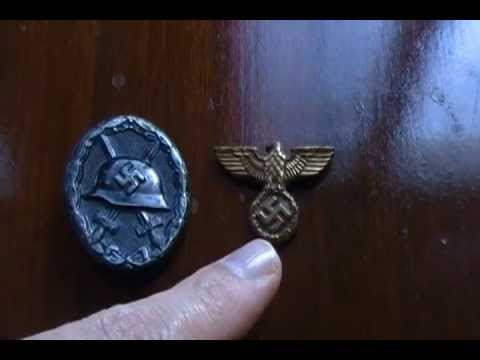 WW2 Nazi Third Riech Wound badge Cap Eagle SA SS German NSDAP Heer