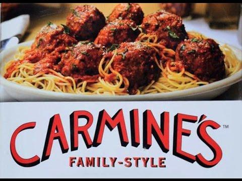 Forum Shops Caesars Palace Best Italian Restaurant Carmine's Las Vegas