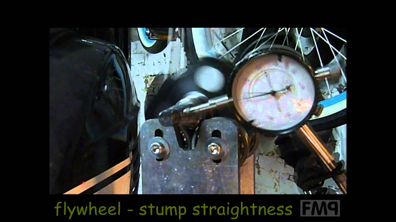 crank CHECK vespa px 200 MAZZUCCHELLI crankshaft runout alignment & stumps  by mista FreakMoPed