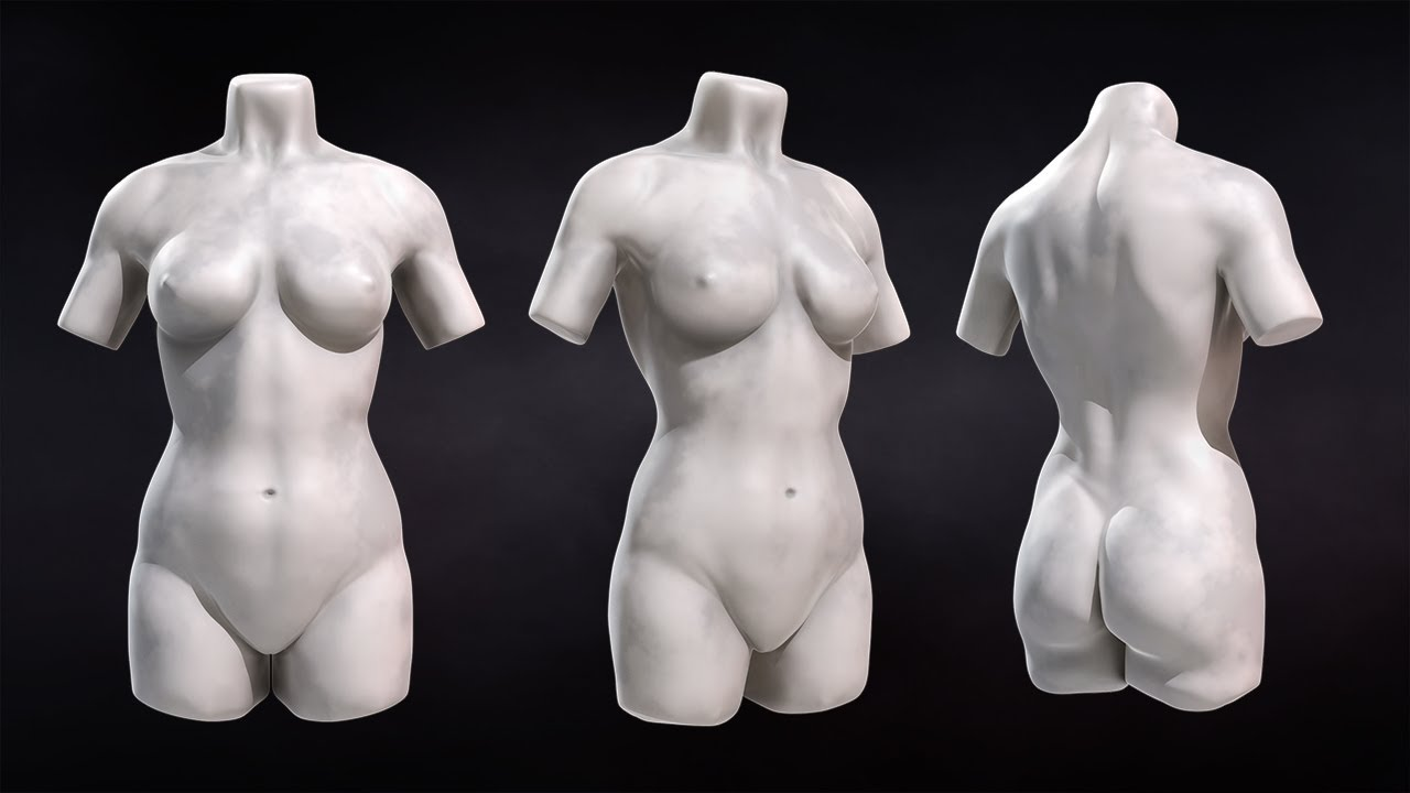 ZBrush Tutorial Now Available: Sculpting Female Torsos - YouTube