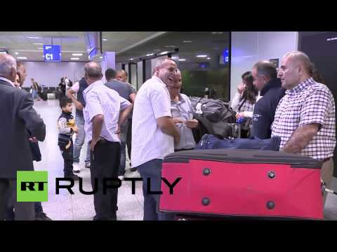 Germany: Syrian hostages touch down in Frankfurt after being released from IS