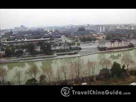 A Bird's View of Yangzhou City