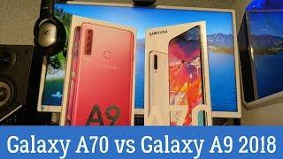 Сравнение Samsung Galaxy A70 и A9 2018